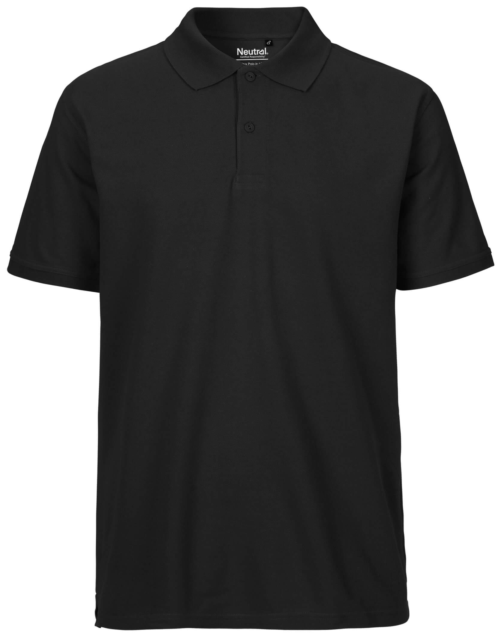 Schwarzes Poloshirt