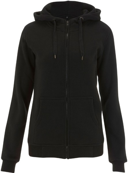 High Neck Zip-Up-Hoodie schwarz N54Z
