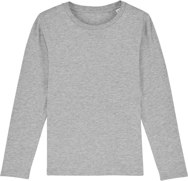 Kinder Longsleeve aus Bio-Baumwolle - heather grey