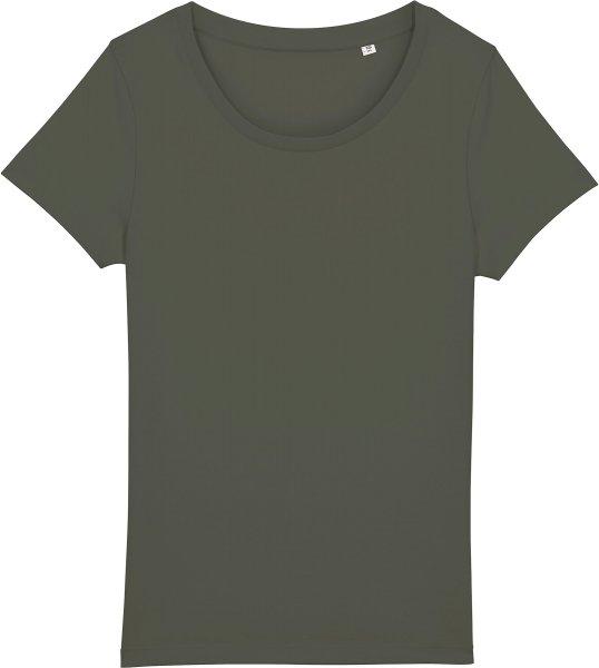 Basic T-Shirt aus Bio-Baumwolle - khaki