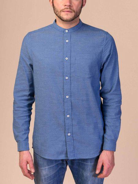 Fairtrade Hemd Amit aus Bio-Baumwolle - chambray