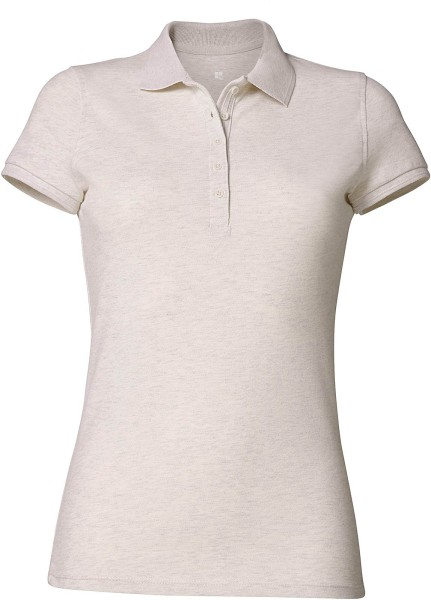 Piqué-Poloshirt Bio-Baumwolle - cream heather grey