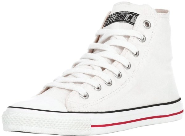 Hi Cut Sneaker aus Bio-Baumwolle - just white