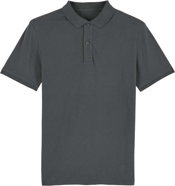 Piqué-Poloshirt aus Bio-Baumwolle - anthracite