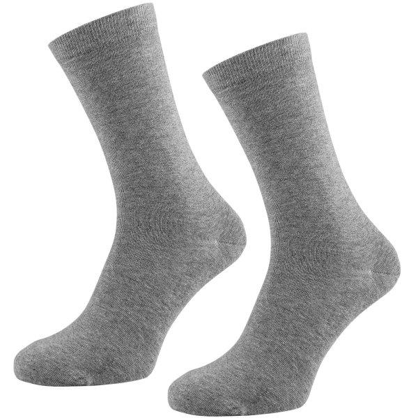 Socken aus Bio-Baumwolle - 2er Pack - grau-meliert