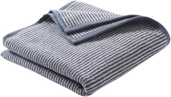 Handtuch aus Bio-Baumwolle 100x50 cm infinity blue/natural