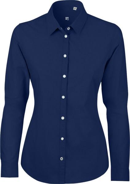 Shines - Bluse aus Biobaumwolle - deep royal blue