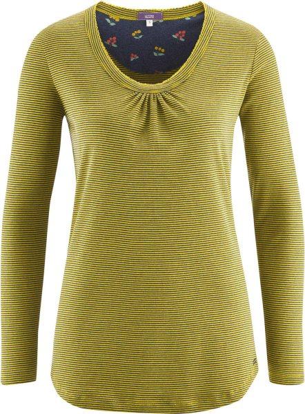 Schlaf-Shirt aus Bio-Baumwolle - navy/brass