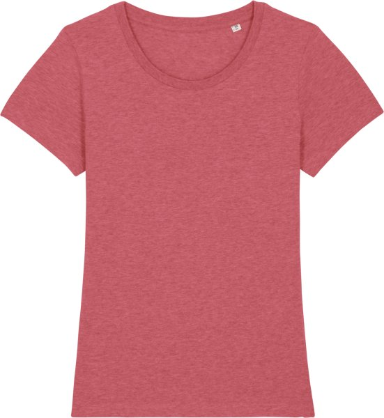 T-Shirt aus Bio-Baumwolle - heather cranberry
