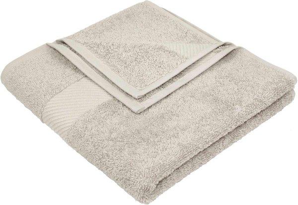 Handtuch aus Bio-Baumwolle - 50x100 beige - Bild 1
