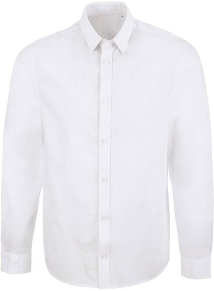 Manages - Business-Hemd aus Biobaumwolle - weiss