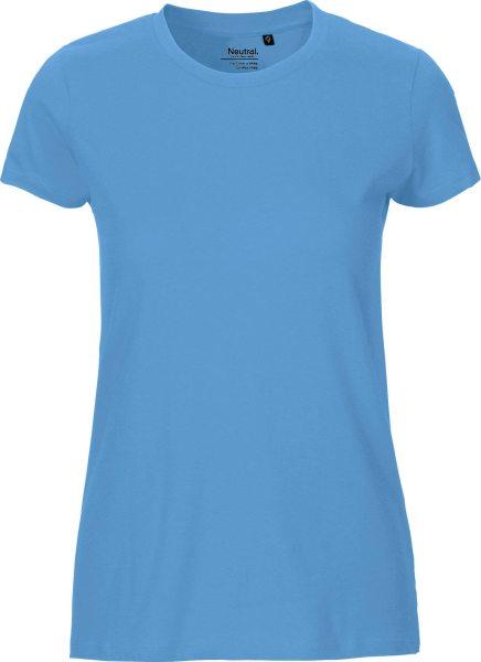 Fitted T-Shirt aus Fairtrade Bio-Baumwolle - dusty indigo
