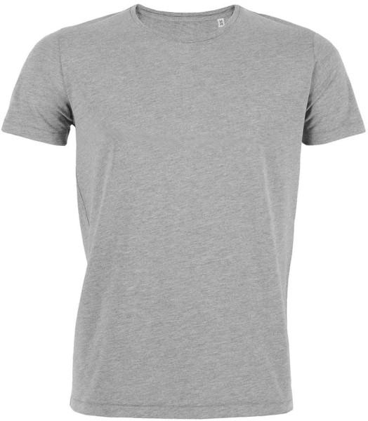 Leichtes T-Shirt aus Bio-Baumwolle - grau meliert