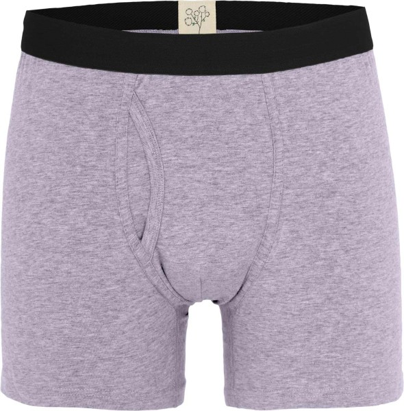 Boxer-Shorts aus Bio-Baumwolle - lila-melange