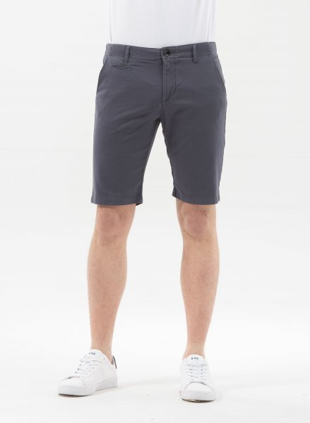 Slim Fit Shorts aus Bio-Baumwolle - steel