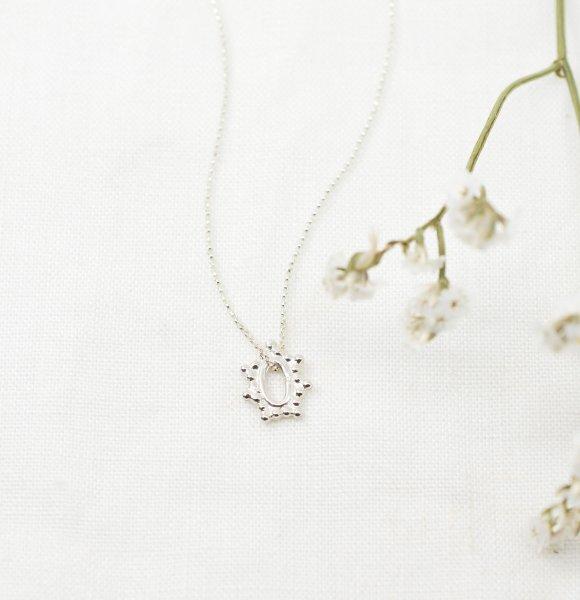 Filigree Oval Pendant Necklace - Kette aus recyceltem Silber