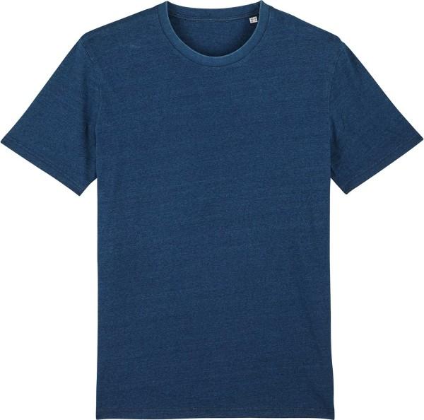 T-Shirt aus Bio-Baumwolle - mid washed indigo