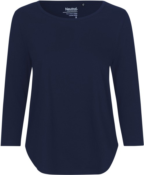 3/4 Sleeve T-Shirt aus Fairtrade Bio-Baumwolle - navy