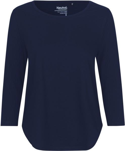 3/4 Sleeve T-Shirt aus Fairtrade Bio-Baumwolle - navy