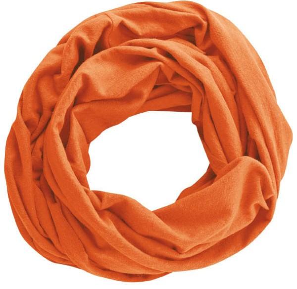 Unisex Schlauchschal aus Hanf und Bio-Baumwolle - pumpkin