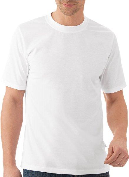 Klassisches T-Shirt aus Baumwolle - weiss - Bild 1
