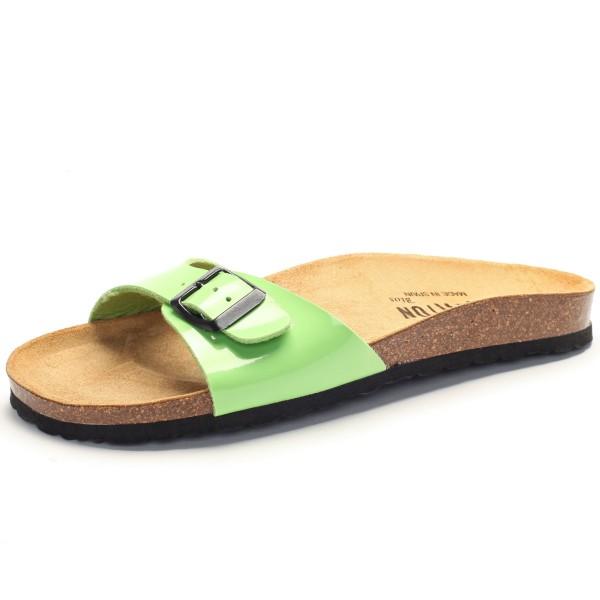 Grüne Lack Sandale Plakton 101625