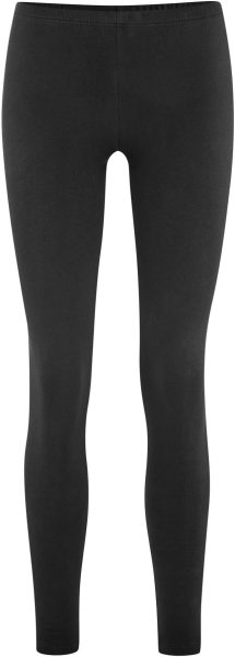 Winter-Leggings aus Bio-Baumwolle - black
