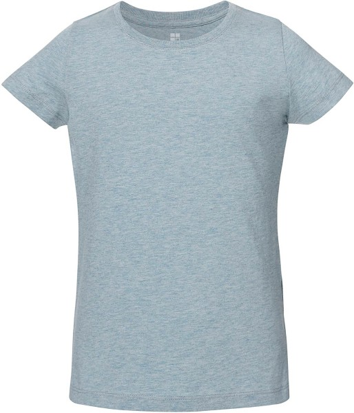 Kinder T-Shirt Bio-Baumwolle - heather ice blue