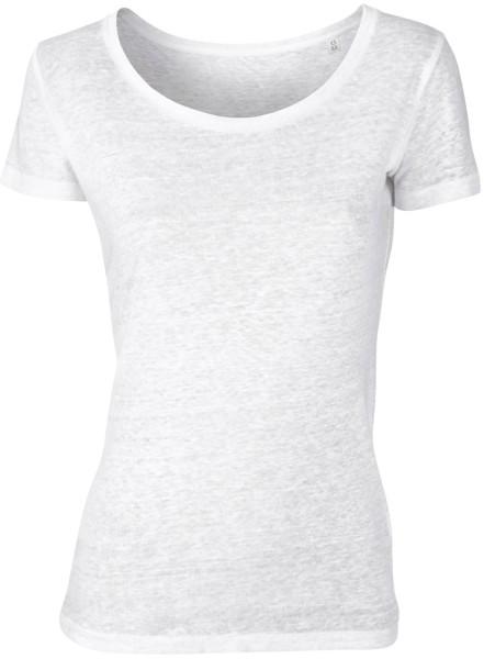 Loves Linen - T-Shirt aus Leinen - weiss - Bild 1