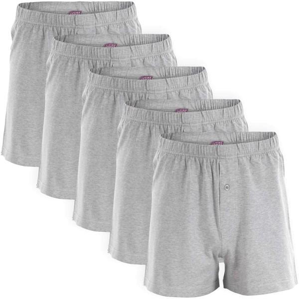 Boxer Shorts - Biobaumwolle grau meliert - 5er-Pack