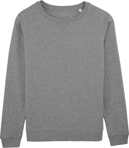 Sweatshirt aus Bio-Baumwolle - mid heather grey