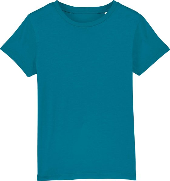 Kinder T-Shirt aus Bio-Baumwolle - petrol