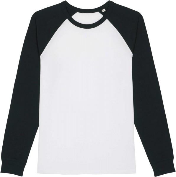 Baseball-Longsleeve aus Bio-Baumwolle - white/black