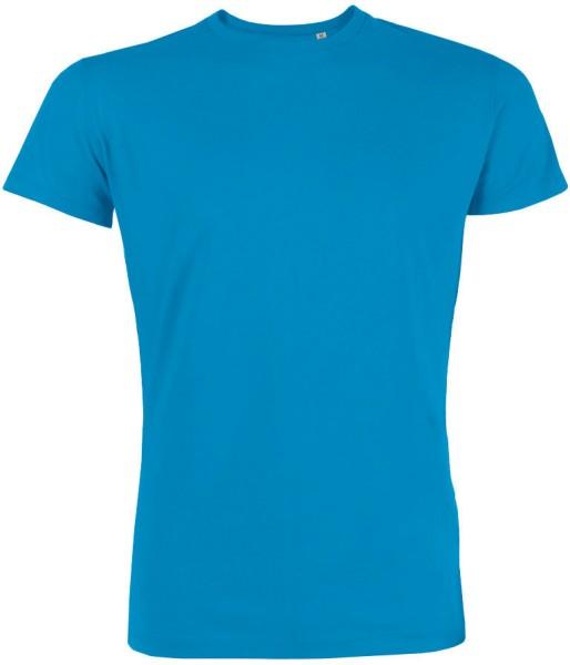 Leads - Kurzarmshirt aus Bio-Baumwolle - azur