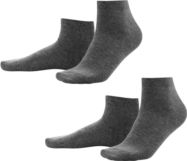 Sneaker-Socken aus Bio-Baumwolle - anthra melange