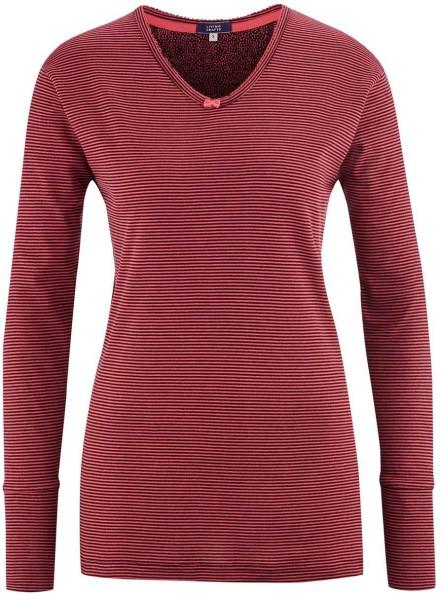 Schlaf-Shirt aus Bio-Baumwolle - barolo stripe