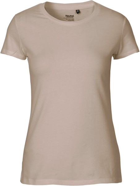 Fitted T-Shirt aus Fairtrade Bio-Baumwolle - sand