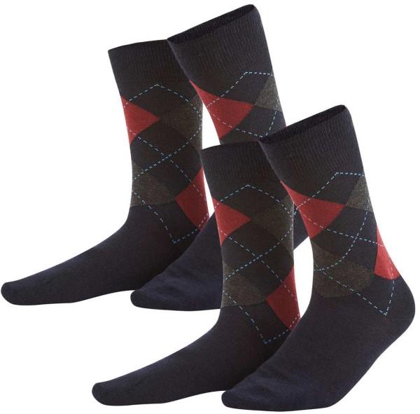 Herren Socken aus Bio-Baumwolle – 2er-Pack – navy blue