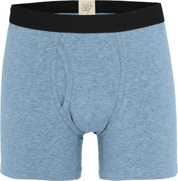 Boxer-Shorts aus Bio-Baumwolle - denimblau-melange
