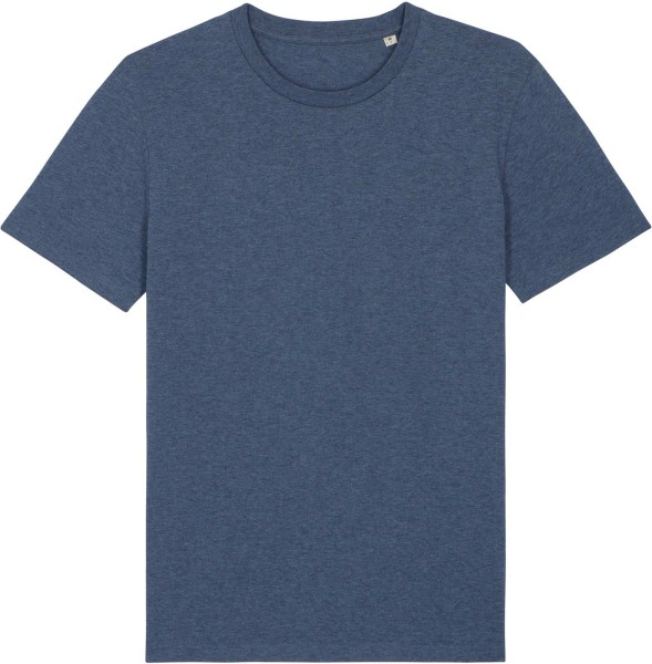 T-Shirt aus Bio-Baumwolle - dark heather blue