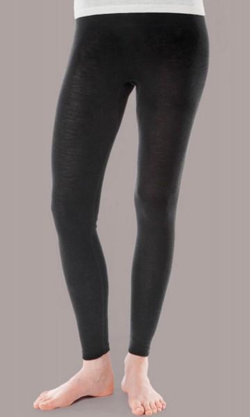 Leggings - Wolle/Seide schwarz - Bild 1