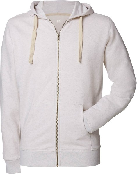 Kapuzenjacke aus Bio-Baumwolle - cream heather grey