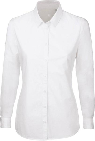 Shines - Bluse aus Biobaumwolle - weiss