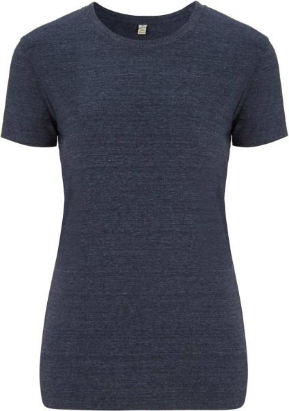 Recycled T-Shirt aus Baumwolle und Polyester - melange navy