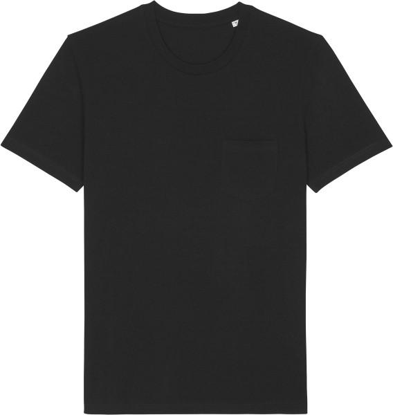 T-Shirt mit Brusttasche aus Biobaumwolle - black