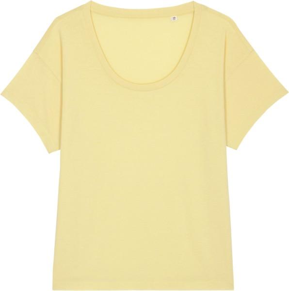 Weites T-Shirt aus Bio-Baumwolle - yellow mist