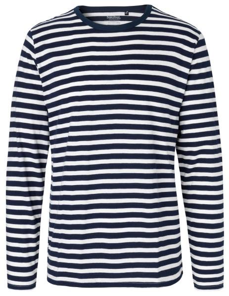 Neutral Herren Longsleeve Shirt - weiß/navy