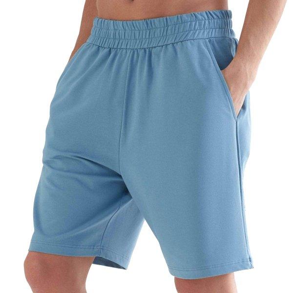 Workout Shorts aus Bio-Baumwolle & Modal - atlantic blue