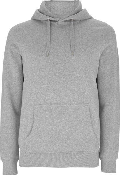 männer hoodie bio fair melange grey EP51P