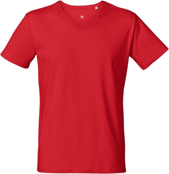 T-Shirt mit V-Ausschnitt - red